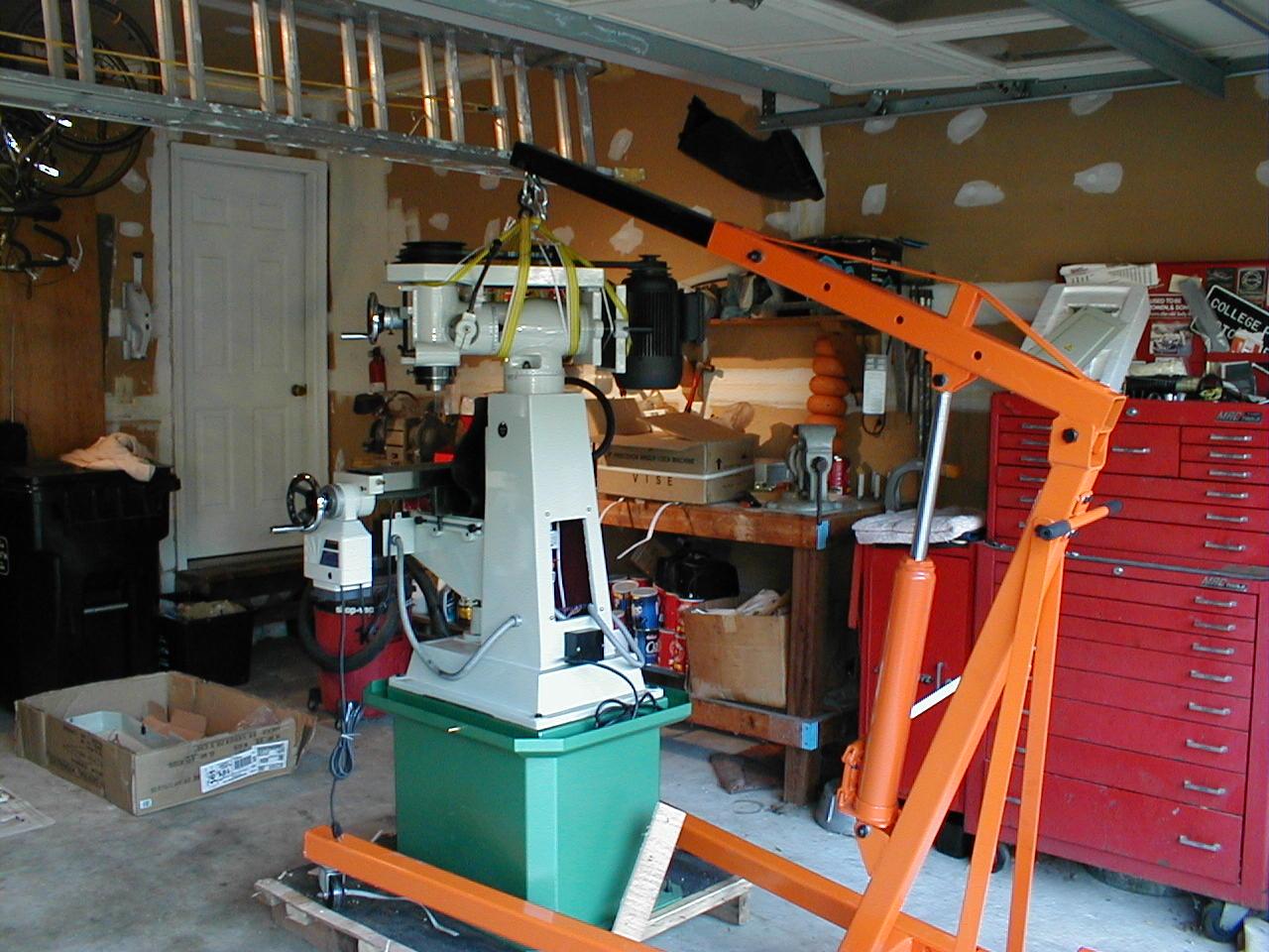 Benchtest Com Workshop Moving The Milling Machine Into